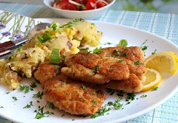 Česnekový kuřecí řízek