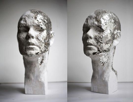 Self portrait without hair by Klaudia Kaczmarek