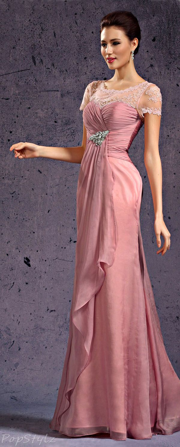 Lace Top Evening Gown