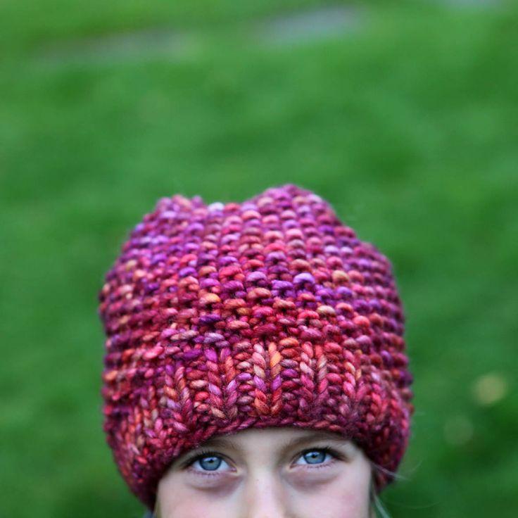 Rasta Hat Knitting Pattern Free : Malabrigo Rasta Archangel moss stitch hat (for kids and ...