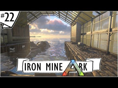 Ark: Survival Evolved :: Ep. 22 :: Megalodon Pen with a View :: IronMine :: Ark Let's Build Series - YouTube