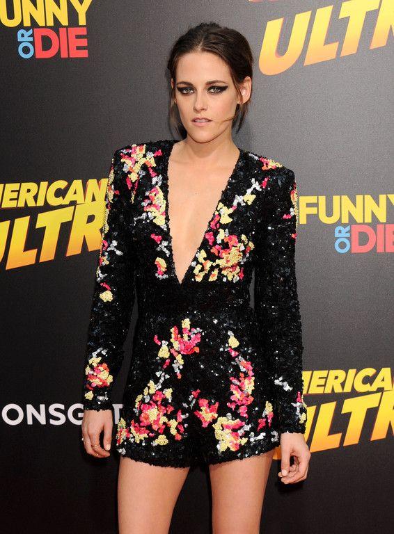 Kristen Stewart at American Ultra premiere