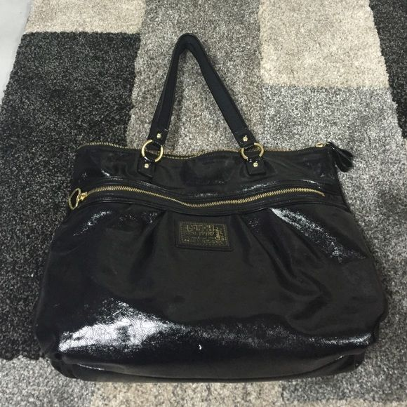 COACH Tote Large Black Coach Tote Bag With Gold Zippers and Gold Accents  Big Enough For Laptop Used A Handful Of Times No Wear Great Condition Coach Bags Totes