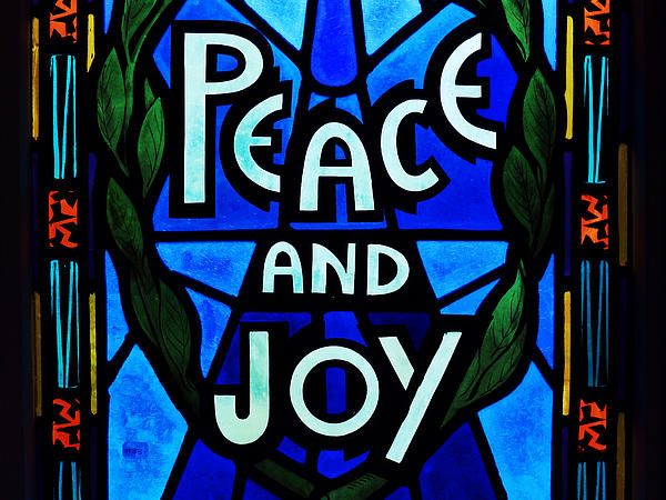 Peace and Joy by Zinvolle - Painted window in Gower Street United Church, Newfoundland, Canada. Hope we all can find our peace and joy.