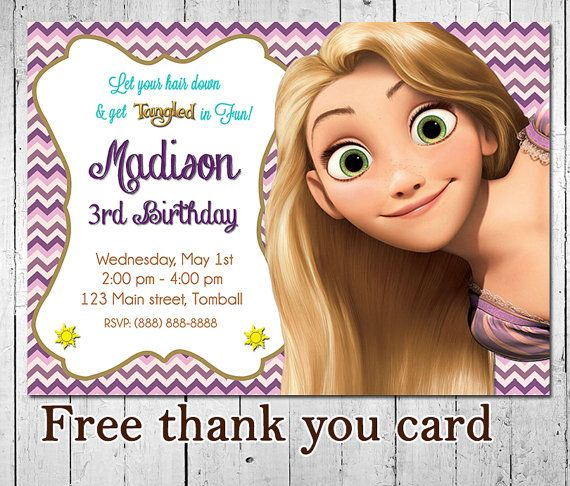 68 best rapunzel images on pinterest | tangled party, tangled, Birthday invitations