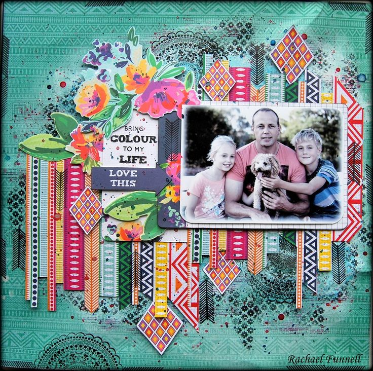 'Love this' layout by Rachael Funnell for Kaisercraft using new Fiesta collection - Wendy Schultz ~ Scrapbook Pages 3.