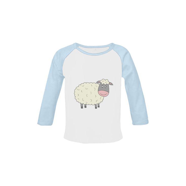 Baa Baa White Sheep Baby Organic Long Sleeve Shirt
