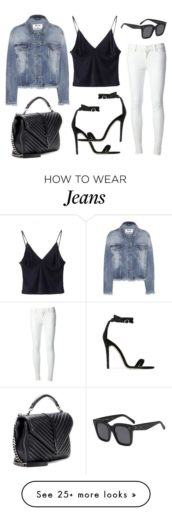 """Untitled #20896"" by florencia95 on Polyvore featuring J Brand, Yves Saint Laurent, Acne Studios, CÉLINE and Baldwin"