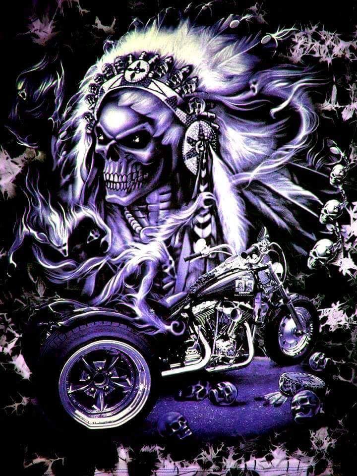 Indian skull and bike