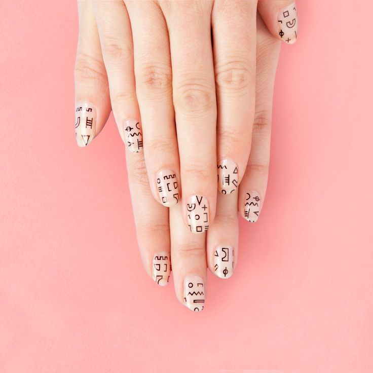 shapes nail decals