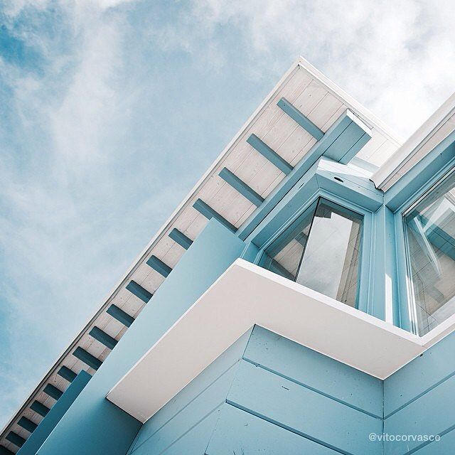 """Our #artistoftheday @vitocorvasce and his series """"Arki"""" #art #photographer #urban #architecture #geometry #lines #space #city #sky #blue"""