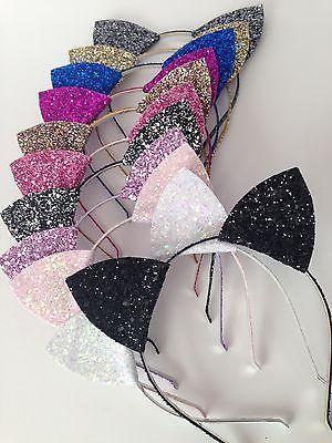 #Glitter cat ears headband, #glitter headband, christmas headband, hen #party,  View more on the LINK: http://www.zeppy.io/product/gb/2/321940592275/