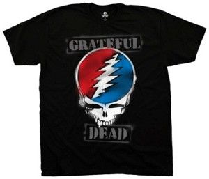 Grateful Dead - SYF  Steal Your Face Stencil T-Shirt  A simple classic Grateful Dead T-Shirt, it has the Steal Your face logo with Grateful Dead stenciled on.  Officially licensed Grateful Dead merchandise. #sunshinedaydream #hippieshop