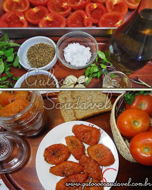 Quem ama de Tomate Seco? A preparação é rápida, fácil, bastam 5 minutinhos, depois é o tempo de forno...  #Receita aqui: http://www.gulosoesaudavel.com.br/2011/07/27/tomate-seco/