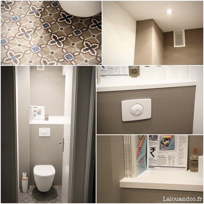 Enfin ! Nous y sommes : nos WC sont presque terminés (je dis presque parce qu'il nous reste les plinthes à poser, elles seront blanches comme dans tout l'appartement) ^^. Ce qu'il faut savoir, c'est qu'avant la première visite de cet appartement, Monsieur l'amoureux et moi n'avions visité que des appartements trop petits ou trop …