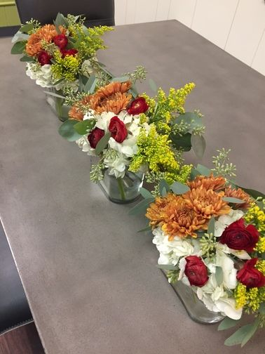 Perfect for long tables or to place around the house at #Thnaksgiving.  Three nice size centerpieces for less than $30/each !!!