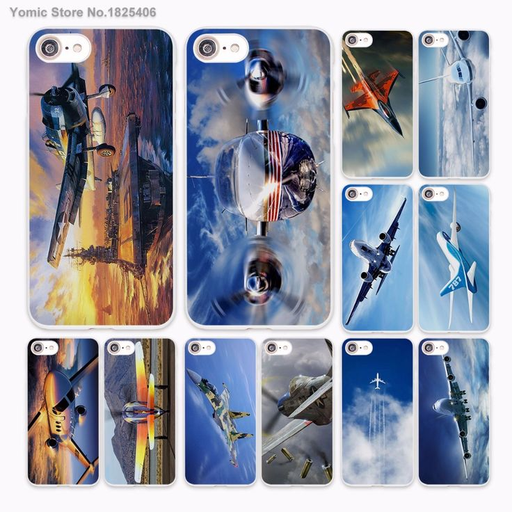 fighter propeller plane aircraft airplane Design hard White Skin Case Cover for Apple iPhone 7 6 6s Plus SE 5c 5 5s 4 4s