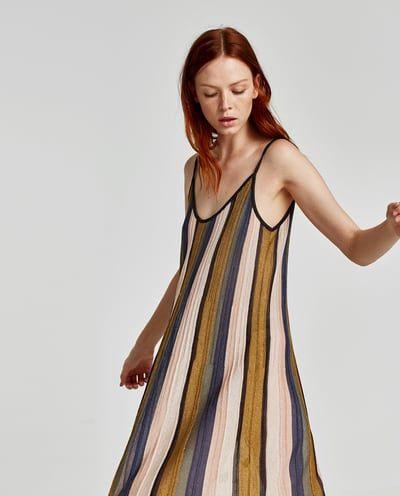 VERTICAL STRIPE DRESS-Knit-DRESSES-WOMAN   ZARA United Kingdom