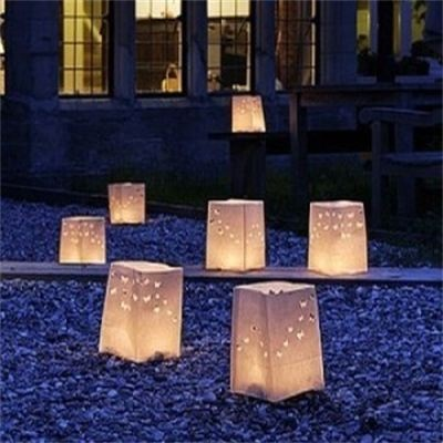 Outdoor lights - perhaps dotted around lawn?
