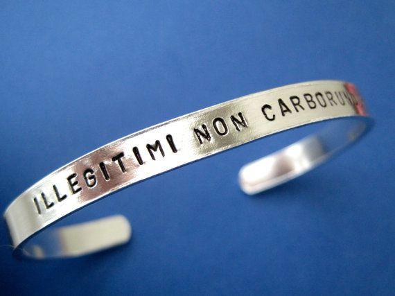 Personalized Bracelet Illegitimi Non Carborundum by TesoroJewelry
