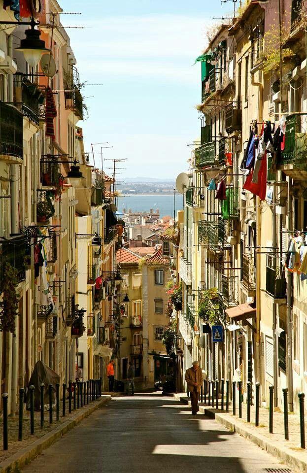 Beautiful street - Lisbon, Portugal #explore #europe #travel #globe #bliss #love #fun #apps #lisbon #portugal