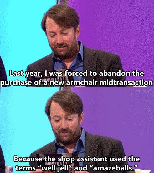 When someone commits the unforgivable sin: | 23 David Mitchell Quotes That Are Way Too Real For People Who Hate Everything