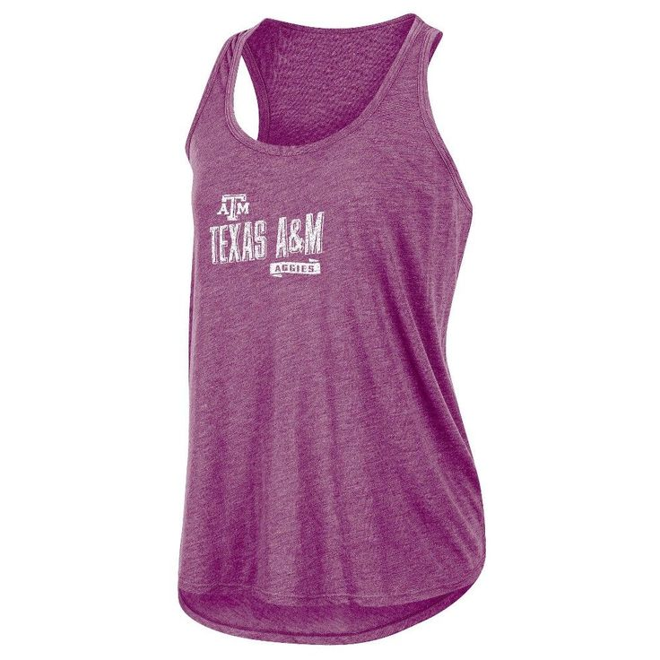 NCAA Women's Gameday Heathered Racerbank Soft Touch Poly Tank Top Texas A&m Aggies - L, Multicolored