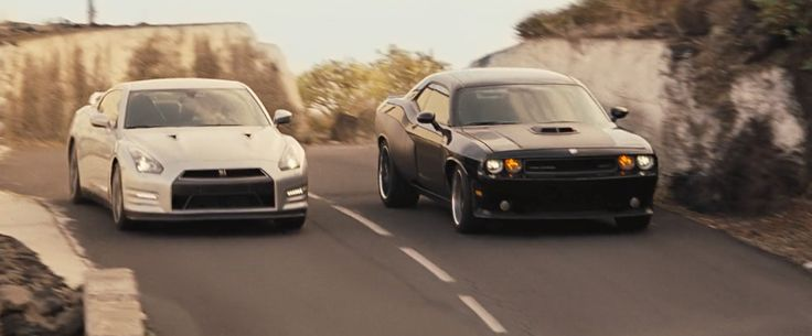Nissan GT-R (2011) Car Drive By Paul Walker And Dodge