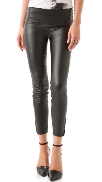 Blank Denim Vegan Leather Leggings in plum #Purple #leather #legging 3 of my favorite things!