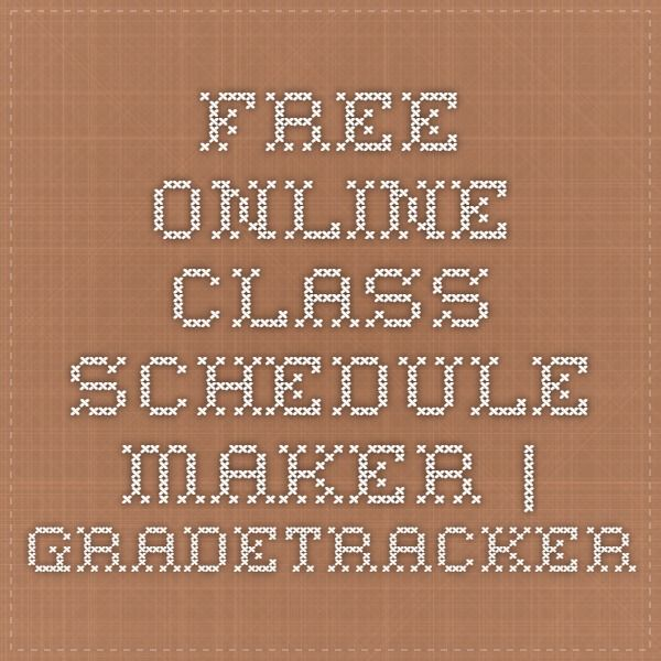 Free Online Class Schedule Maker | Gradetracker