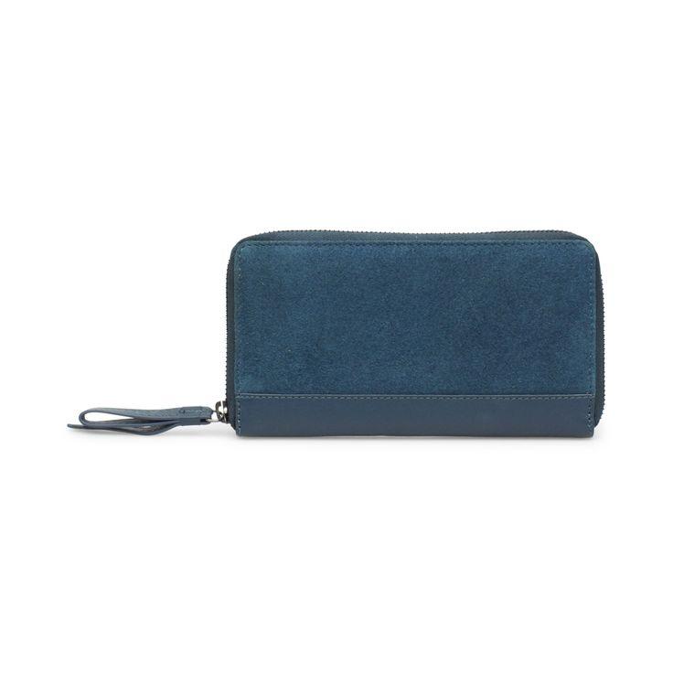 Wallet in teal suede leather // Markberg