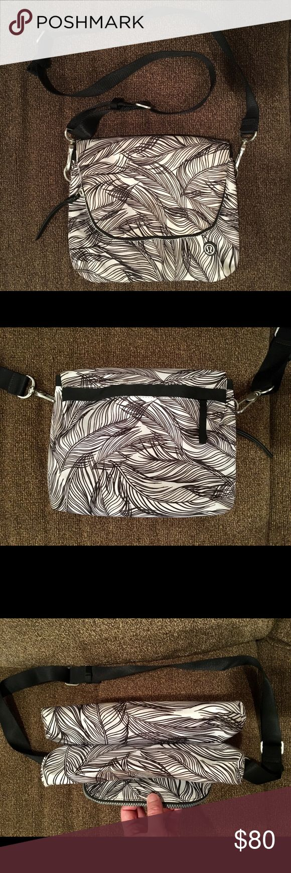 Lululemon Party Om Bag Sketchy Palms Crossbody Lululemon Party Om Bag  Sold out Sketchy Palms Print Very roomy, many compartments  Comes from non smoking, pet free home lululemon athletica Bags Crossbody Bags