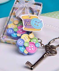 Little Buttons Keychain Christening Bomboniere