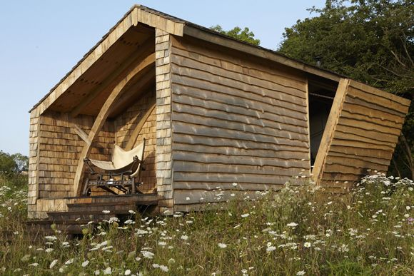Following the rules of shed- In the Channel 4 series Man Made Home, Kevin McCloud went off grid to build a cabin in the woods. He was recycling, re-using and re-purposing to create his very own self-designed and self-built haven, a place where he can unhook himself from the madness of modern life and watch the sun go down http://www.channel4.com/programmes/kevin-mcclouds-man-made-home