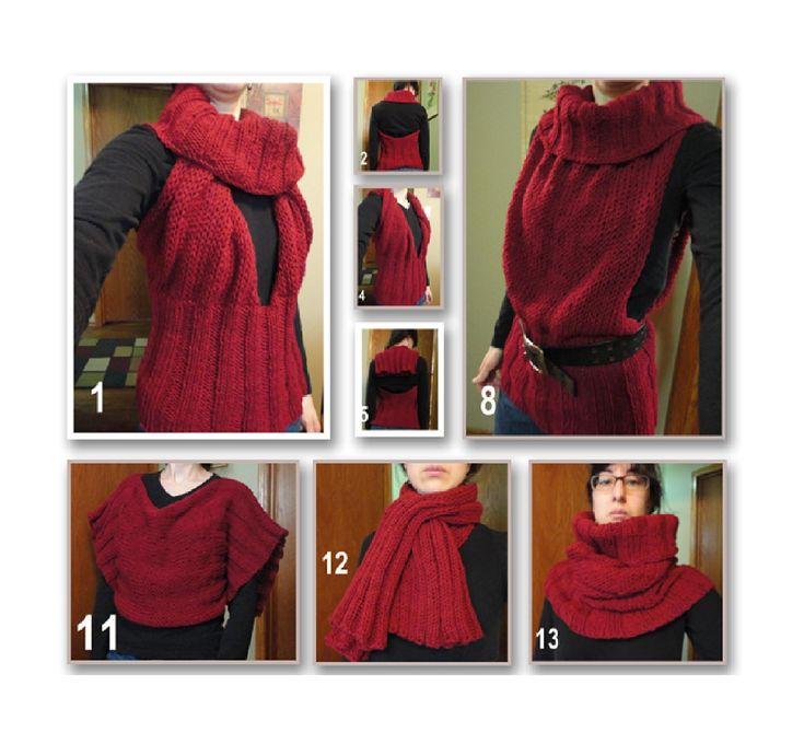 Ravelry: convertible (halter, tunic, cowl, scarf) by Suzanne Resaul