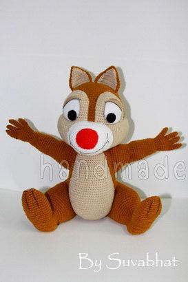 Pattern Crochet Chip&Dale PDF File...Instant Digital by Suvabhat, $15.00
