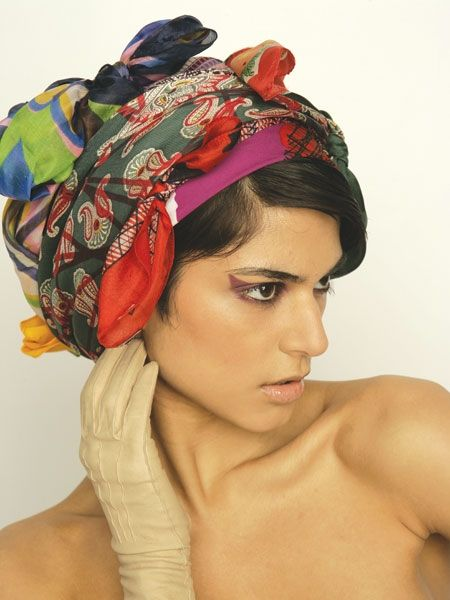 Recycled scarves. Vintage over printed scarves