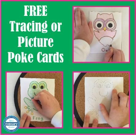 Tracing or Picture Poke Animals - Your Therapy Source
