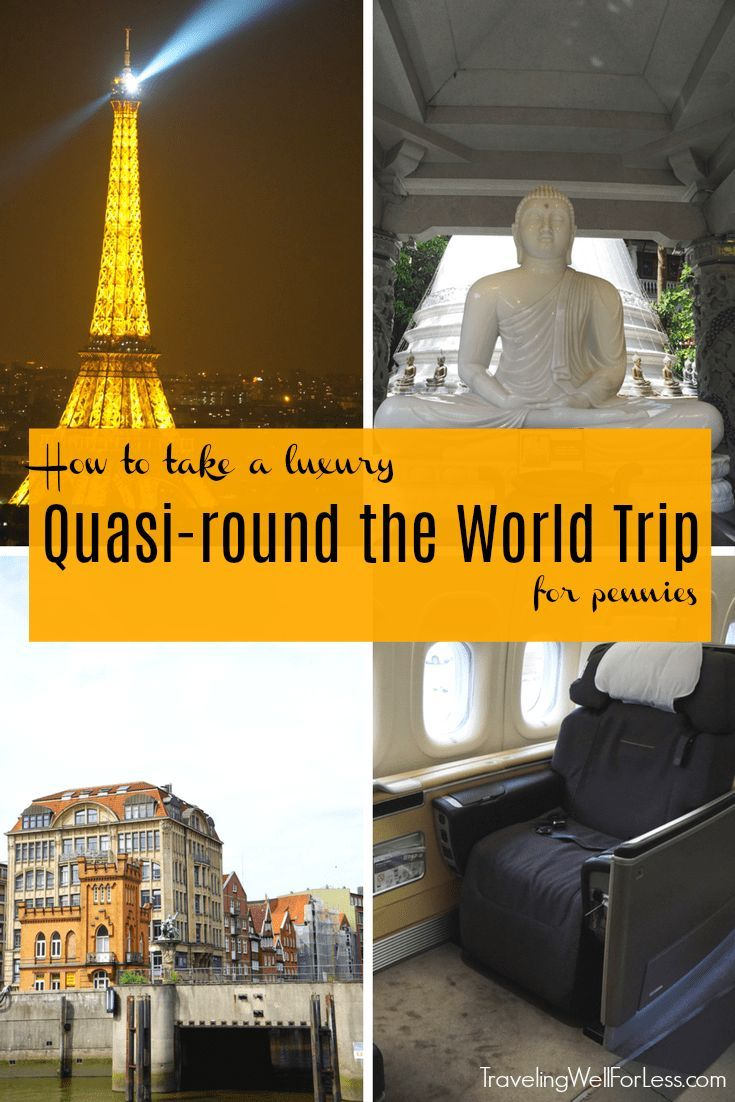 This luxury quasi-round the world 19-day trip cost $33,200. Find out how you can do the same trip for about 10% of the price. | travel hacks | travel hacking | miles and points | travel around the world | TravelingWellForLess.com