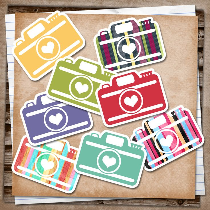 FREE SMASH PRINTABLE:  VINTAGE CAMERAS - Would make a Cute Embellishment for a Scrapbook Page!