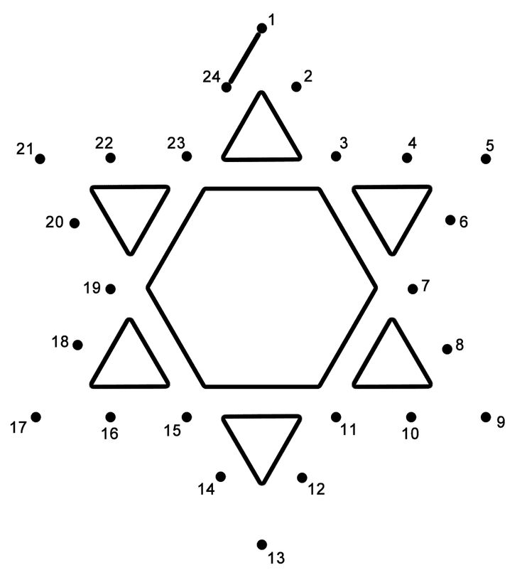This Star Of David Connect The Dots Page Features A Dot To Puzzle For Hanukkah Activity Worksheet Helps Kids Practice Connecting