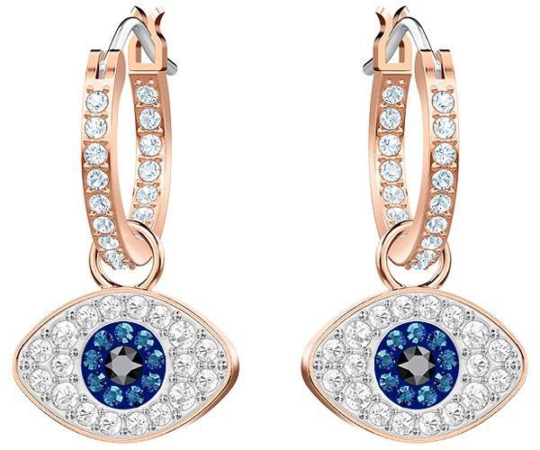 cf2d4fab08a90 Symbolic Evil Eye Hoop Pierced Earrings, Multi-colored, Rose gold ...