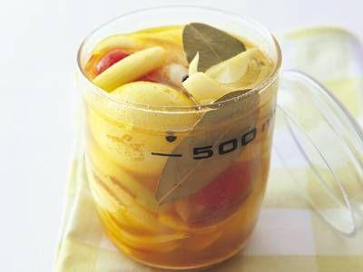 ゆで卵のカレーピクルス ©きょうの料理 #常備菜 #常温2週間