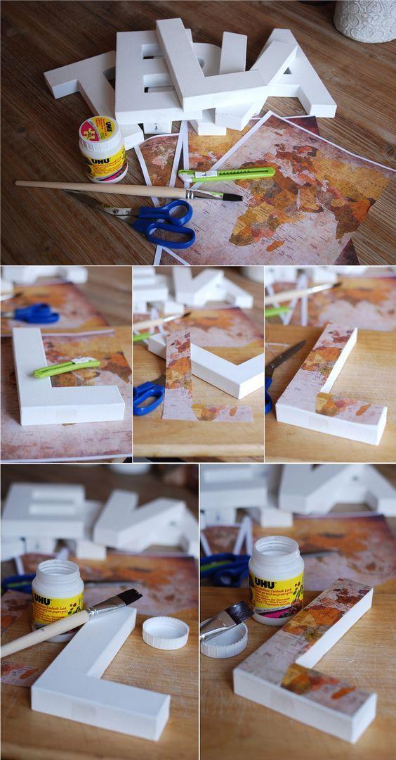 {Décoration} Bricolage: lettres décorées – Décoration mariage – DIY