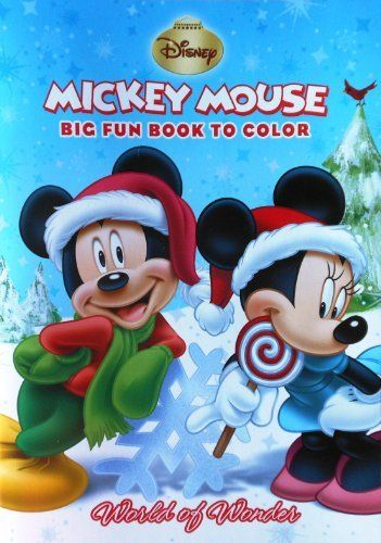 Mickey Mouse Christmas Holiday Big Fun Book To Color World Of Wonder By Disney