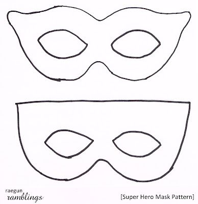 Superhero Mask Template | Super Hero Mask Pattern and Tutorial