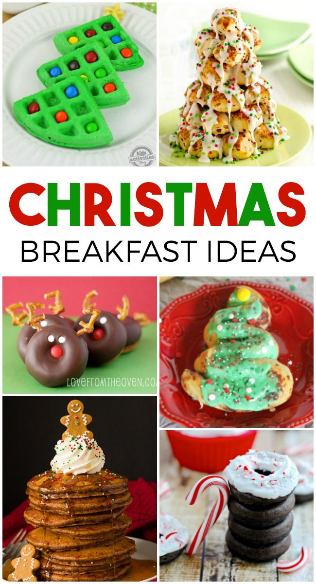 Breakfast always takes a back seat on holidays. We are usually focused on the big meal of the day. But we shouldn't forget about the most important meal of the day! These festive Christmas breakfast ideas are so much fun and will be sure to start your holiday off right. 14 Festive Christmas Breakfast Ideas Christmas Tree Waffles- Kids will especially love these green waffles with M&M ornaments.