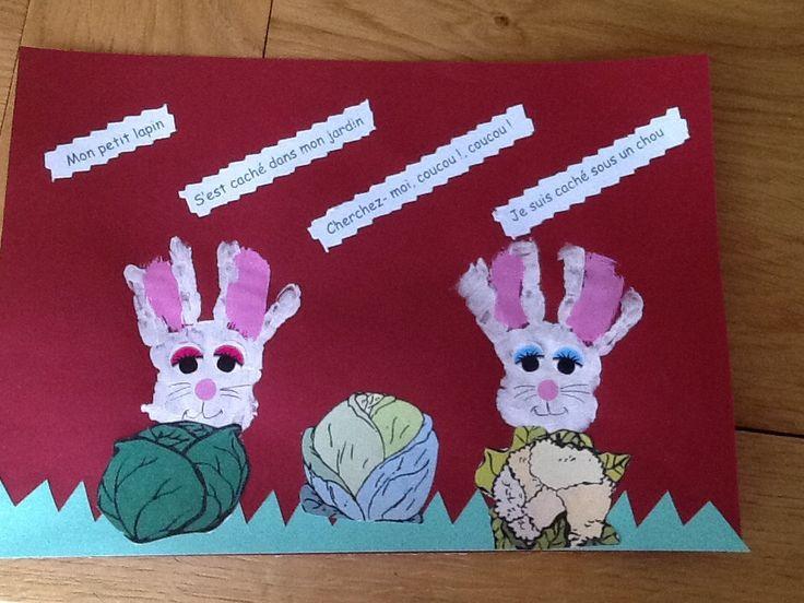 13 best comptines images on pinterest kid art visual - Mon petit lapin s est sauve dans le jardin ...