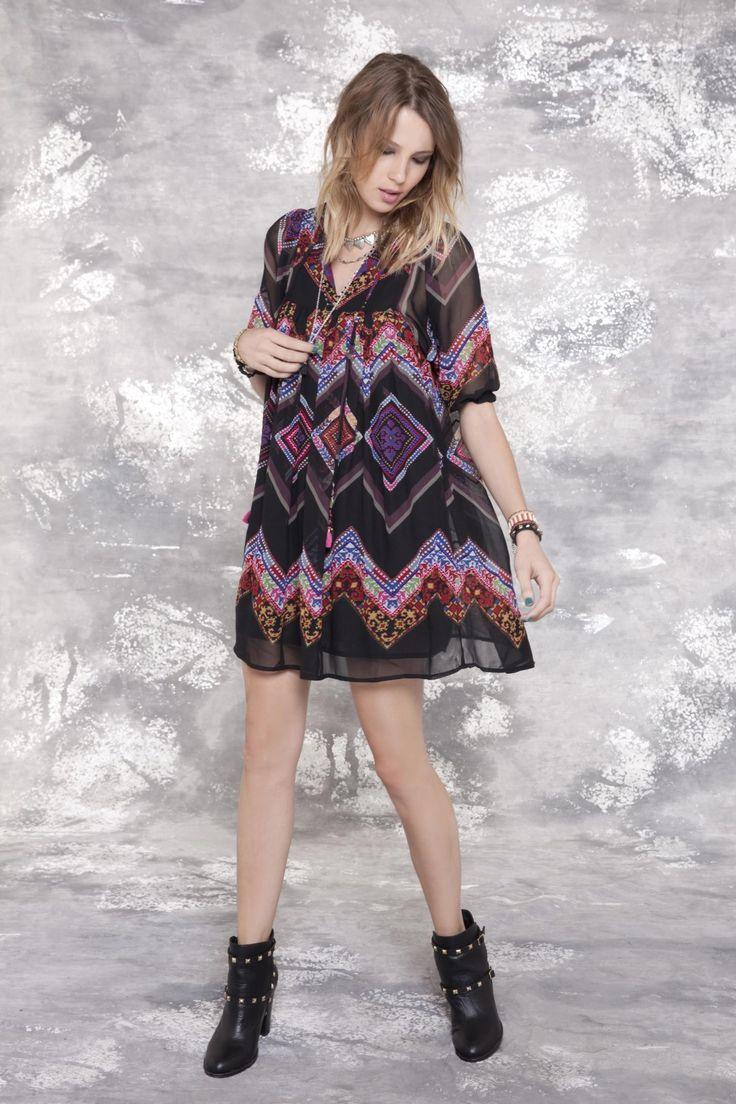 Visitá la nueva colección Invierno 16 en Rapsodia.com > Vestido Asis Tribal