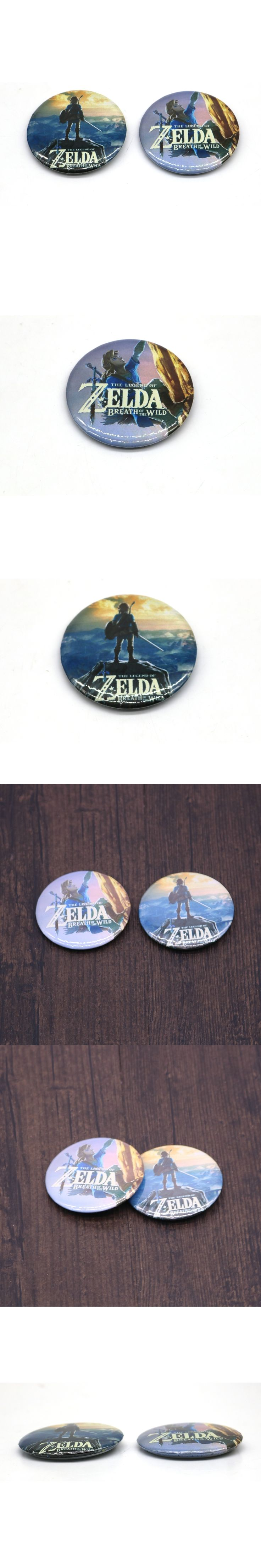 New Game The Legend of Zelda: Breath of the Wild Logo Pin Brooches School Bag Badge Cosplay Collection Great Gift High Quality